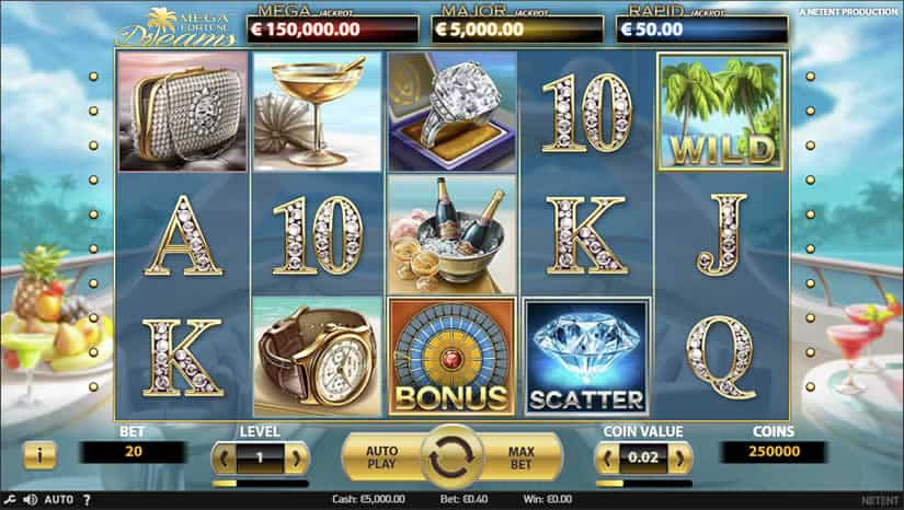 Mega Fortune Dreams slot. Netent