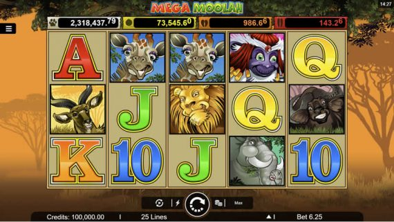 Mega Moolah slot from Microgaming: HUGE Jackpots!