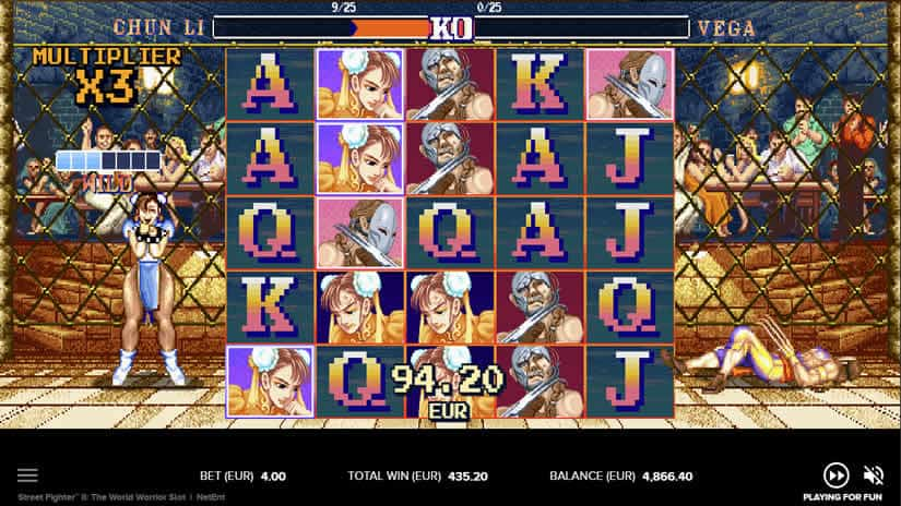 Street Fighter 2 slot: beat the boss free spins
