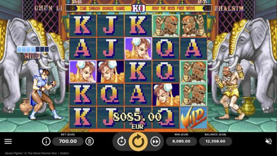 Street fighter II slot Wild and big Win