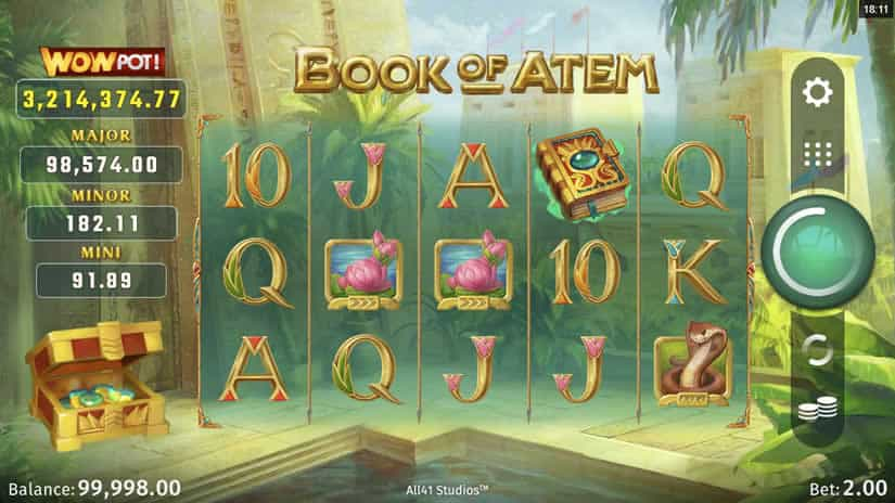Book of Atem slot by Microgaming: One of the best slots to play in september 2020.