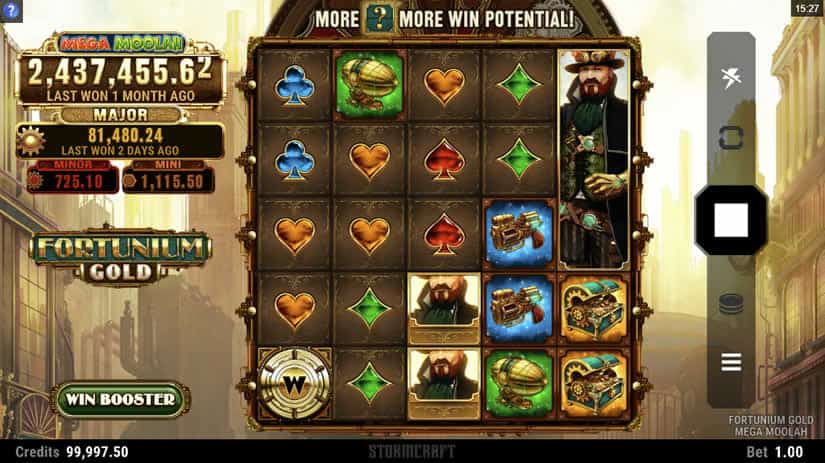 Fortunium Gold Mega Moolah Slot by Microgaming: one of the best slots to play in October 2020.