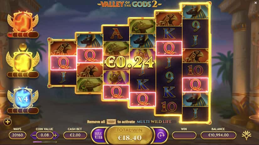 Valley of the Gods 2 slot by Yggdrasil Gaming: One of the best slots to play in September 2020